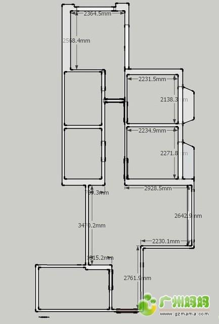 设计的60平米的房子,改造成了三房两厅,功能清晰不拥挤 装修
