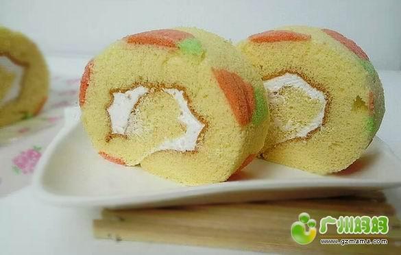 胡萝卜彩绘蛋糕卷